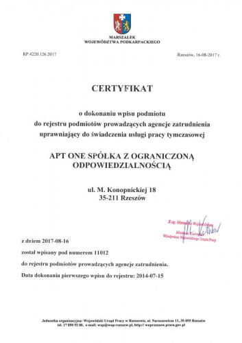 APT certfikaty Page 1